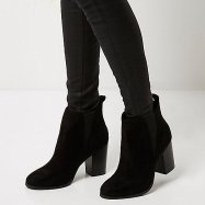 Black Heeled Chelsea Boots, River Island