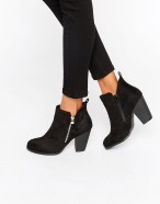 Call it Spring, Kokes Zipped Heel Ankle Boots, Asos